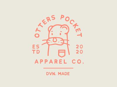 The Otters Pocket Apparel Co. logotype typography lettering logo branding illustration lockup