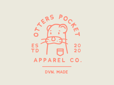 The Otters Pocket Apparel Co. logotype typography lettering logo branding illustration lockup