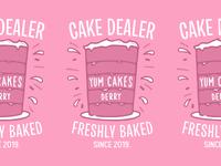 YUM CAKES typography lettering branding lockup apparel tshirt illustration