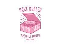 YUM CAKES v.2 apparel tshirt apparel logo lockup badge branding typography lettering illustration