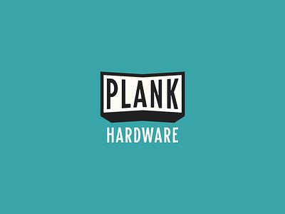 Plank Hardware lockup identity design stamp branding typography lettering