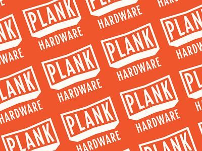 Plank Hardware colour pattern hardware stamp logotype lockup branding lettering typography