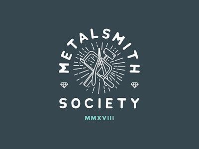 Metalsmith Society branding logo lettering typography illustration badge