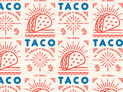 TACO fly poster streetfood mexican food taco vector icon logotype lockup texture design iconography illustration branding badge logo lettering typography