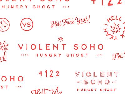 Violent Soho band merch violent soho typography logotype branding lettering