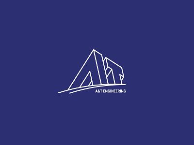 A&T ENGINEERING Logo branding logo