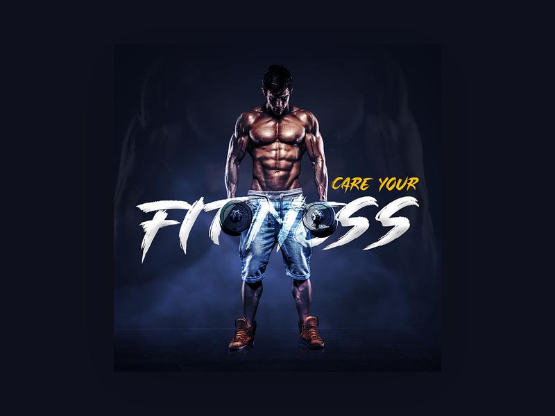 Fitness_Social_Media_Content banner poster flyer image manipulation color correction advertising social media fitness fitness club