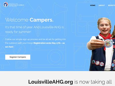 Louisville AHG Camp Registration register website camp