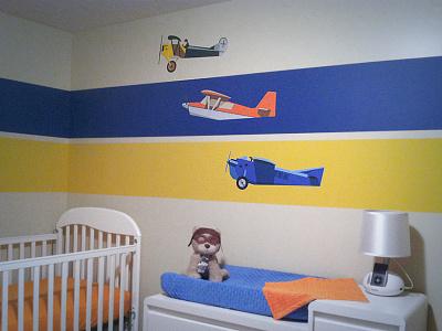 Aviation Bedroom airplane plane bedroom painting vector illustration