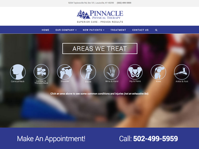 Pinnacle Physical Therapy parallax treatment bones therapy physical web