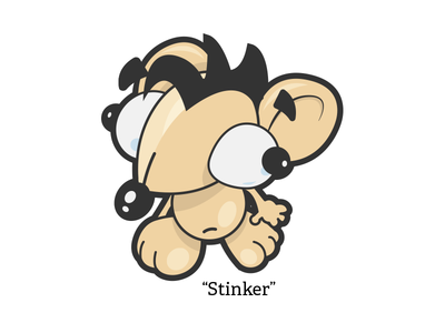 Stinker pets house dog illustration cartoon