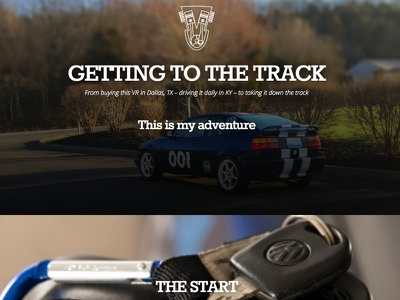 Getting To The Track corrado vw racing track wip website cars