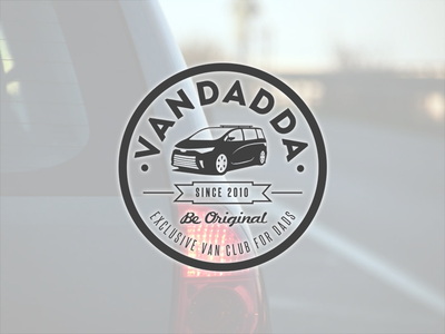 V For Vandadda minivan label dads van