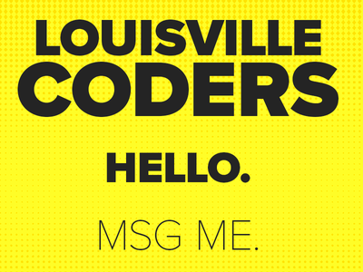 Hello - MSG Me coder. a for looking