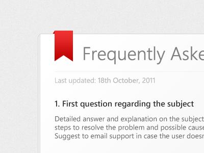 FAQ page design website faq ibooks