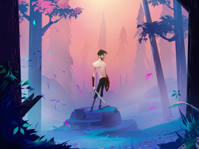 hunter pc mobile digitalart characterdesign game art illustration photoshop cs6 concept art
