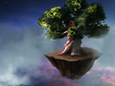 Sky Tree photoshop cs6 concept art