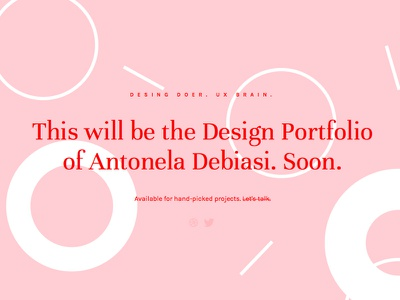 Soon portfolio minimal geometry red pink