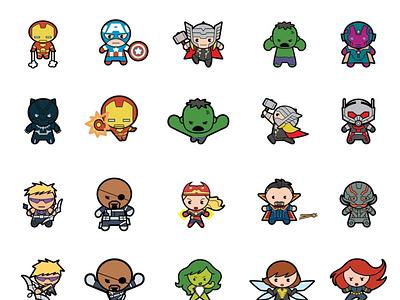 charcters art adobe xd vector app icon logo typography illustration flat website ui design