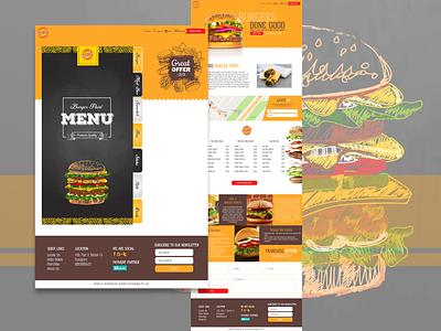 Burger Order xd design art photoshop illustration logo adobe xd website branding ui web design