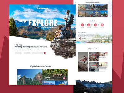 Travel Booking booking travel adobe xd ux ui flat website minimal web branding design