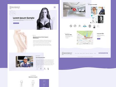Cosmetic Surgery Webpage typogaphy art xd design photoshop adobe xd minimal website branding ui web design