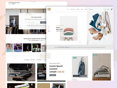 Clothes Shopping adobe xd  photoshop  ui ux ux photoshop minimal branding web website ui design adobe xd