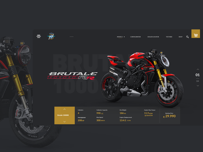 MvAgusta motorcycle motorbike xd design ux flat minimal branding website ui web design adobe xd