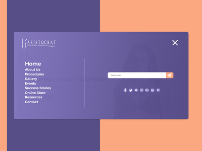 Website Navigation typography xd design photoshop website web minimal branding ui design adobe xd