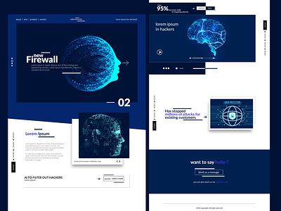 CyberSecurity Website flat xd design photoshop website web minimal branding ui design adobe xd