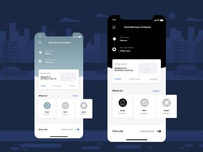Uber-Redesign ux flat xd design website web minimal branding ui design adobe xd
