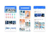 Shopping app UI design