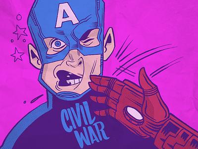 Civil War civilwar ledodesign ledo ironman captainamerica marvel