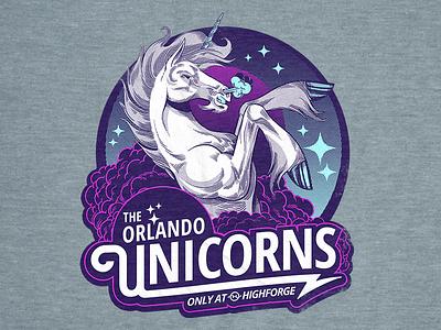Orlando Unicorns highforge unicorns orlando concept design tshirt