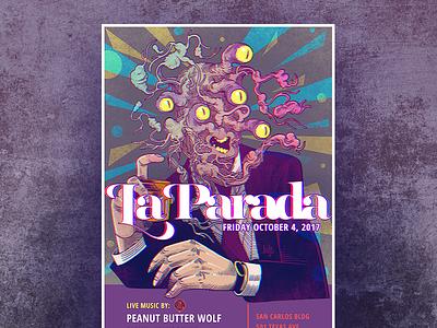 October 2017 Flyer for La Parada elpaso ledodesign ledo illustartion photoshop gigposter