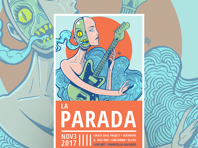 Nov Poster for la Parada elpaso ledodesign ledo illustartion photoshop gigposter