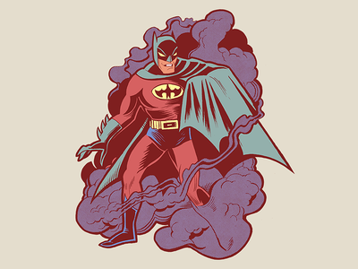 Bootleg Batman paper pen sketchbook painting penandink photoshop illustration batman comicbook comic
