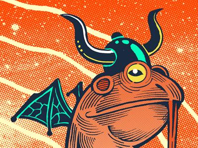La Parada April 2018 gig poster texas elpaso space frogs aliens design illustration art flyer gigposter