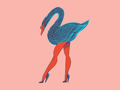 Sexy Swan orlando legs swan design t-shirt