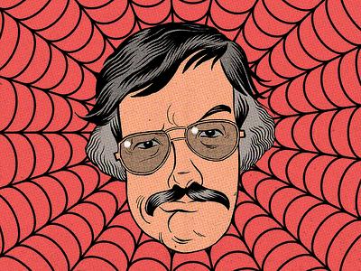 Stan Lee rip marvel stan lee caricature illustration photoshop art pen and ink