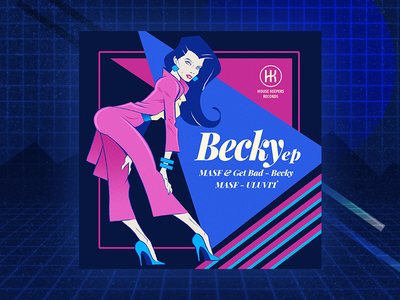 Becky homage retro design album cover art album artwork album art orlando design photoshop illustration ledo