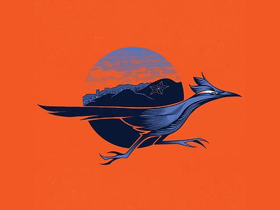 El Paso Moves Forward photoshop design art pen and ink ledodesign ledo roadrunner t-shirt design illustrations illustrator illustraion texas elpaso