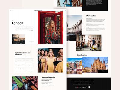 Future fashion capitals (Content) white black photo grid travel ui ux website flat minimal design interface web clean simple creative color digital landing page technology