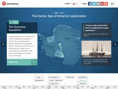 Antarctica timeline ui ux antarctica timeline