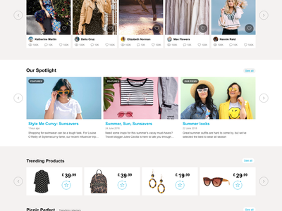 Primania redesign redesign ecommerce blue clean design website flat interface minimal simple ui ux web shop account landing page social share clothes photos