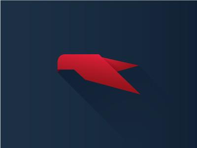 Ultravision Logo logo minimal long shadow raptor vector flat ultravision