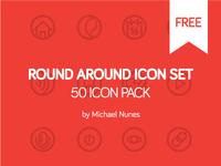 Round Around 50 Icon Pack | Free
