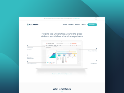 Fullfabric Redesign universities education user experience user interface site full fabric design