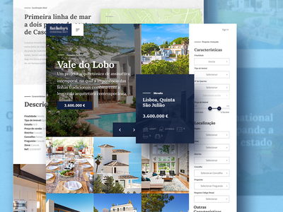 Product Search Bar real estate homepage user experience user interface site concept design search bar
