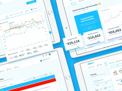 Dashboard for Climber dashboad rms flat icon ui ux app user interface